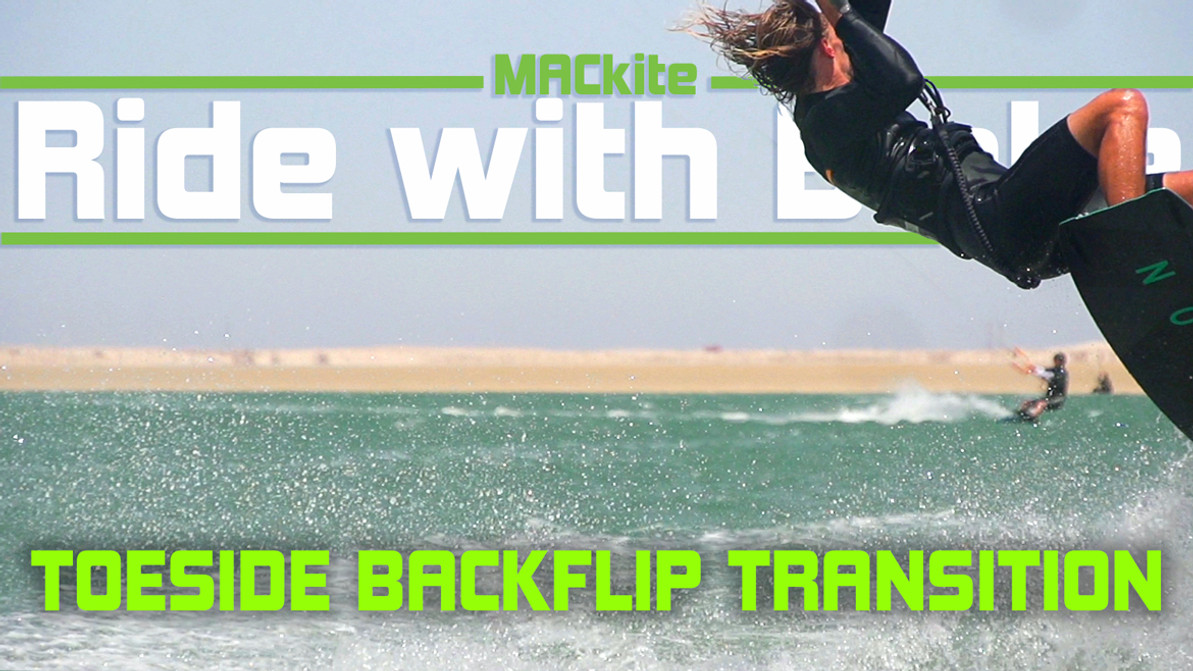 Kiteboarding Transitions: Toeside Backflip