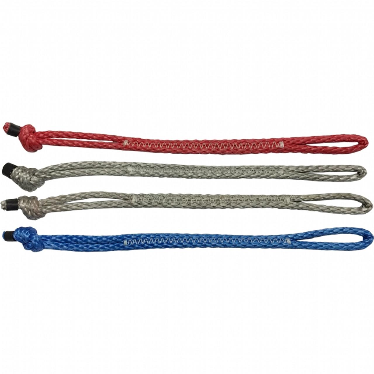 kitesurf pigtails 2 knots 2 loops set of 4