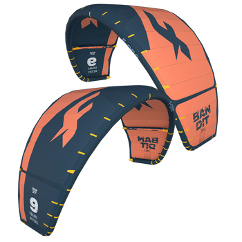 2021 F-One Bandit Kiteboard Kite - Papaya/Slate