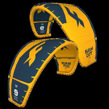 2021 F-One Bandit Kiteboard Kite - Mango/Slate