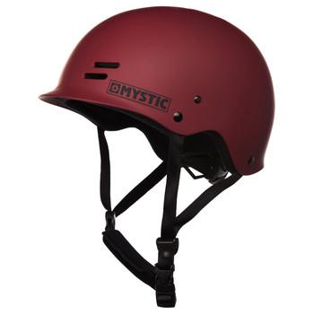 Mystic Predator Helmet (Dark Red) - Left Profile