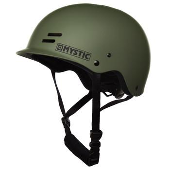 Mystic Predator Helmet (Dark Olive) - Left Profile