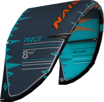 2019 Naish Pivot Kiteboarding Kite - Teal/Grey