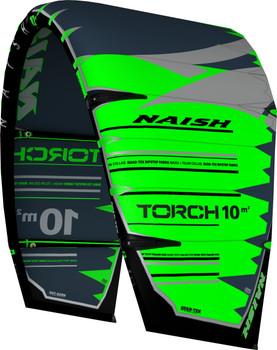 2019 Naish Torch with ESP Kiteboarding Kite - Green/Grey - Left Angle
