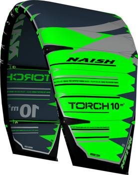 2019 Naish Torch with ESP Kiteboarding Kite - Green/Grey - Left Angle