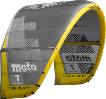 2019 Cabrinha Moto Kiteboarding Kite - Black/Yellow (003)