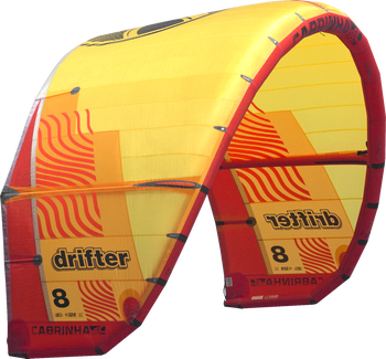 2019 Cabrinha Drifter Kiteboarding Kite - Red/Yellow (001)