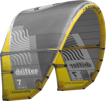 2019 Cabrinha Drifter Kiteboarding Kite - Black/Yellow (003)