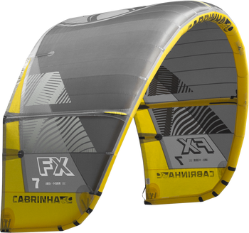 2019 Cabrinha FX Kiteboarding Kite - Black/Yellow (003)