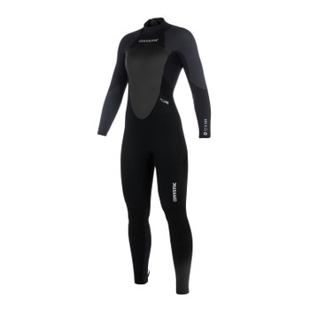 2018 Women's Mystic Star 5/4 Full BZ Wetsuit - Black/Grey