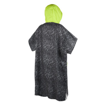 2019 Mystic Allover Changing Poncho - Black/Lime