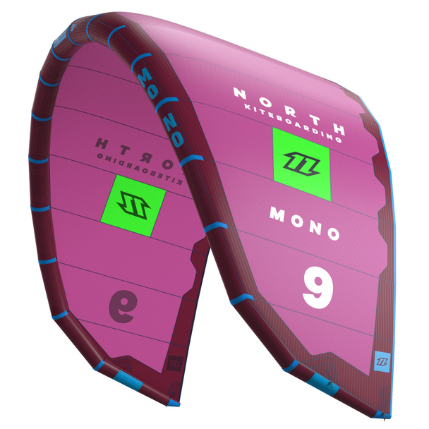 2018 North Mono Kiteboarding Kite - Peacock / Neon Pink