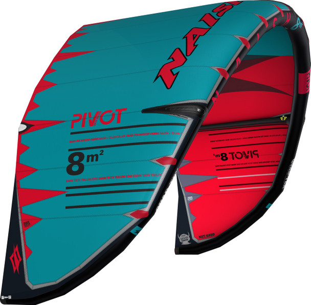 2019 Naish Pivot Kiteboarding Kite - Red/Teal