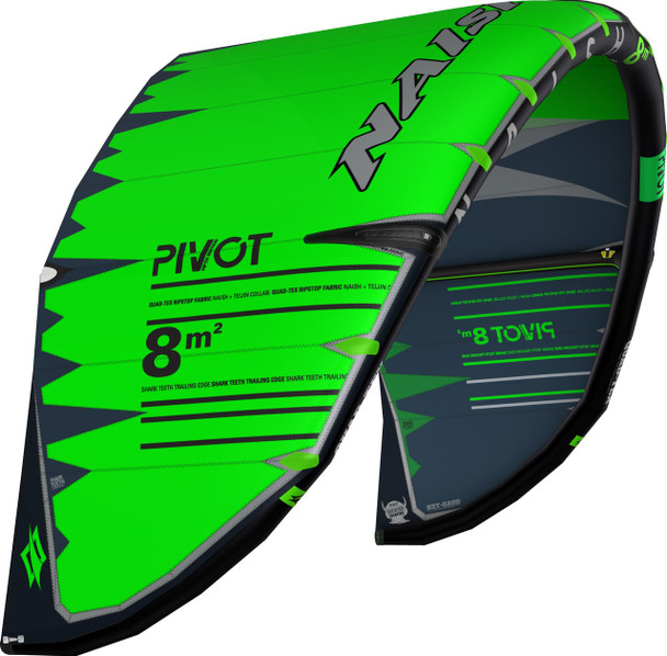 2019 Naish Pivot Kiteboarding Kite - Green/Grey