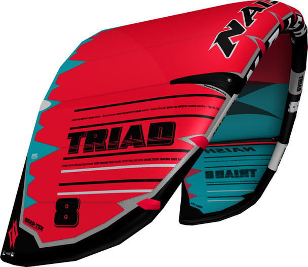 2019/20 Naish Triad Kiteboarding Kite - Red/Teal