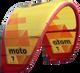 2019 Cabrinha Moto Kiteboarding Kite - Red/Yellow (001)