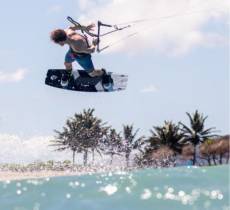 2020 Cabrinha XCAL Kiteboard - Carbon in action
