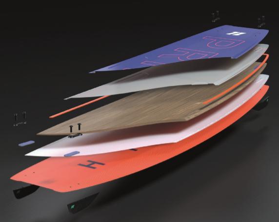 2020 North Prime Kiteboard composite