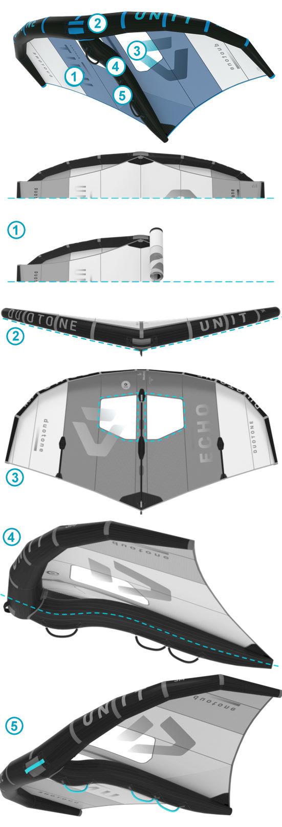 Duotone Unit Foil Wing features