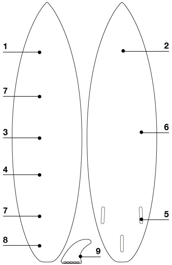 2020 Eleveight Kite-Surfboard CVC Structure