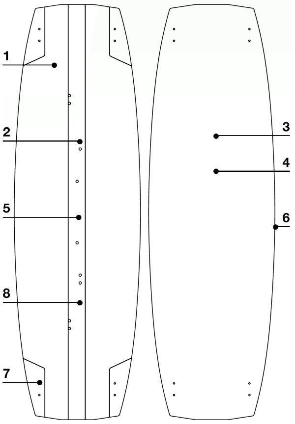 2020 Eleveight Kiteboard structure