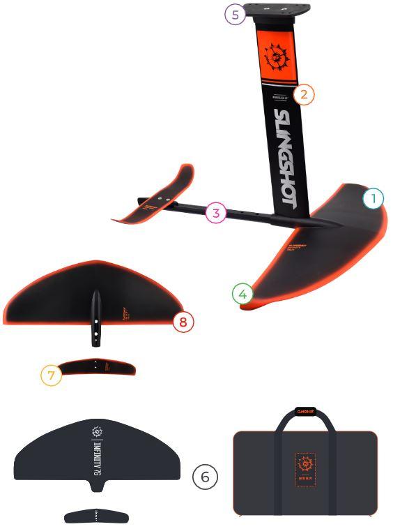 2020 Slingshot Hover Glide FSurf V3 Complete Hydrofoil features
