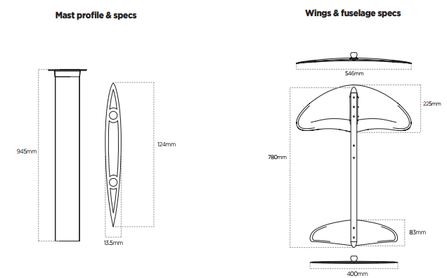 2018 Liquid Force Rocket Foil V2 Foil Set