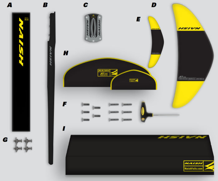 2020 Naish Jet 1250 Foil Complete - Abracadabra
