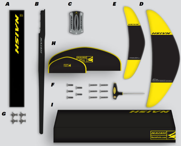 2020 Naish Jet 1650 Foil Complete - Abracadabra
