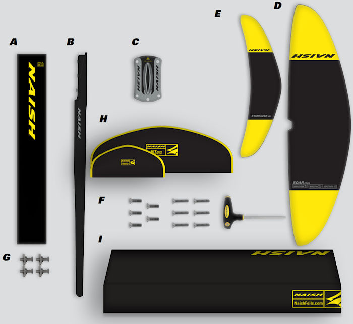 2020 Naish Jet 2000 Foil Complete - Abracadabra