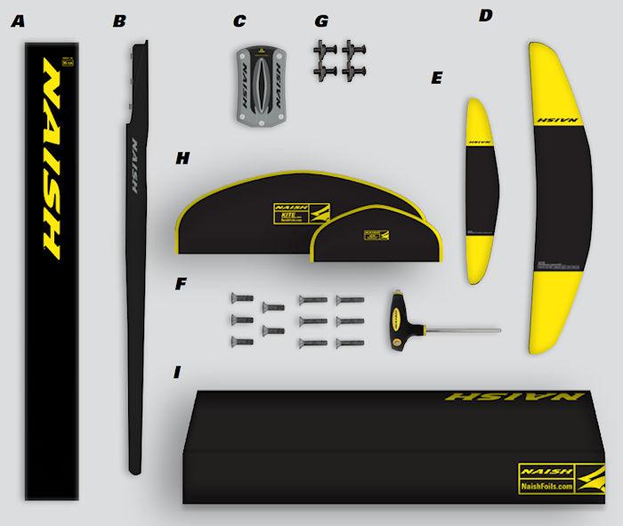 2020 Kite Performance Freeride 600 Foil Complete - Abracadabra