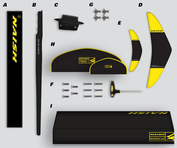 2020 Naish Windsurf 1150 Foil Complete - Deep Tuttle