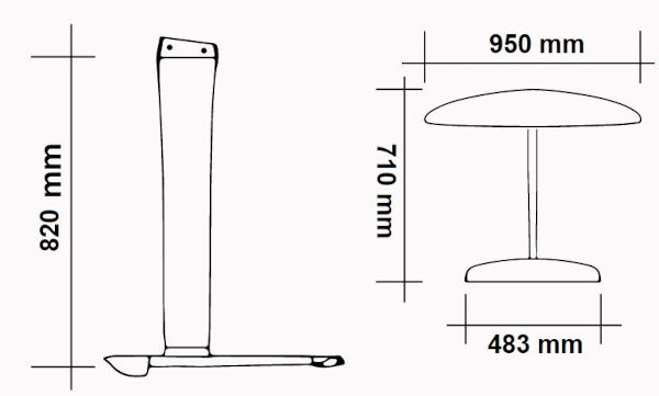 Moses SABFOIL M82 W950/S483 Foil Kit Dimension