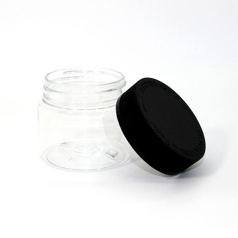 4oz Child Resistant Plastic Jars
