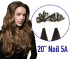"""20"""" Nail Tip Hair Extension 25 Strands 5A Funky Color"""