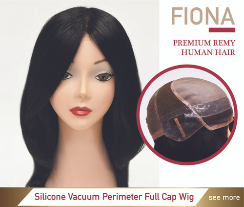 Custom Made Silicone Skin Hair Loss Medical Wig Attach without Tape - Fiona