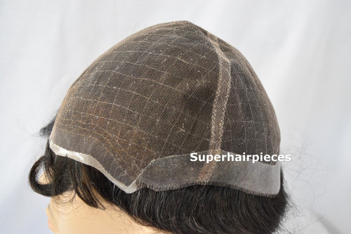 Custom Made Men's Full Head Wig French Lace Wig #6