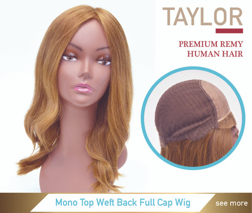 Premium Human Hair Mono Top 100% Hand Made Lace Front Full Cap Women Wig