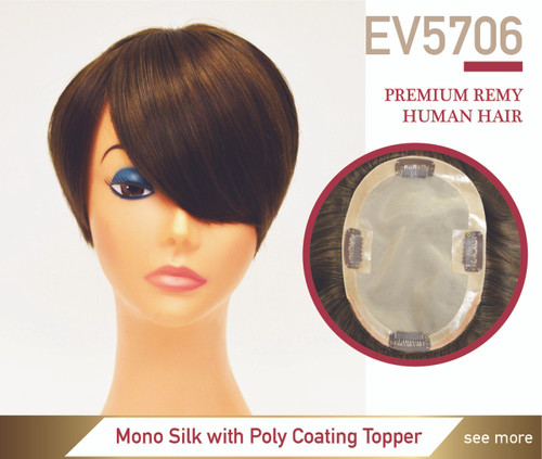 mono silk with poly coating topper Hairpiece