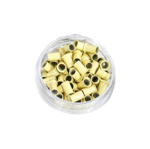 Cooper Beads Micro Link Cold Fusion Beads  100 beads Light Blonde Color