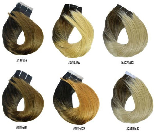 blonde ombre hair extensions 4A & 6A