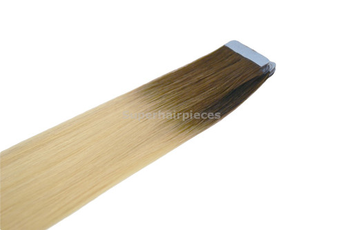 "20"" Tape In Hair Extensions 20 Strands 4A Root Color"