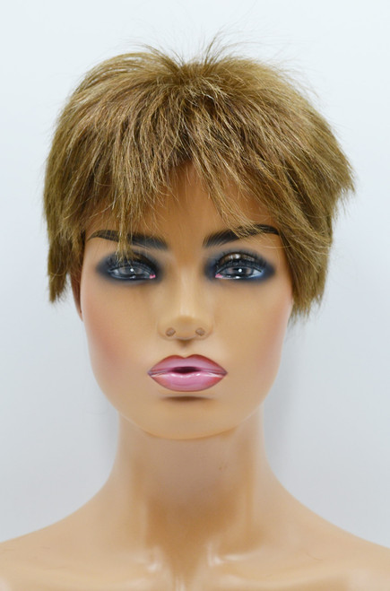 Clearance Women Wig #6B Swiss lace with clear thin poly painting perimeter ID504