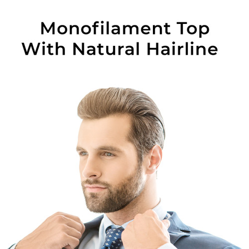 Monofilament top with natural hairline