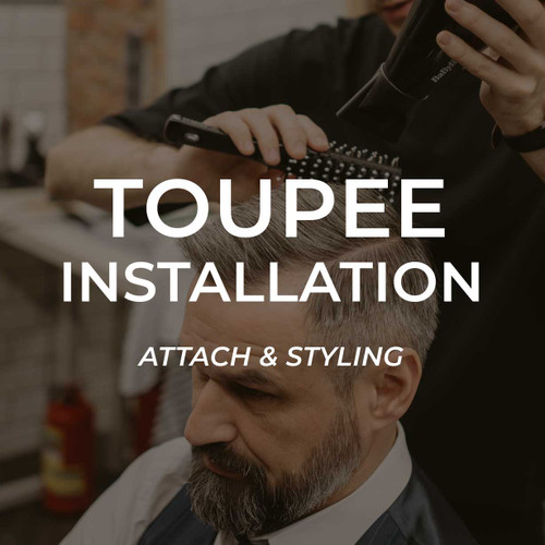 Toupee attach & styling