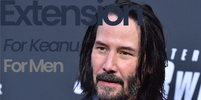 Keanu Reeves wearing hair extensions shows it's not only for women
