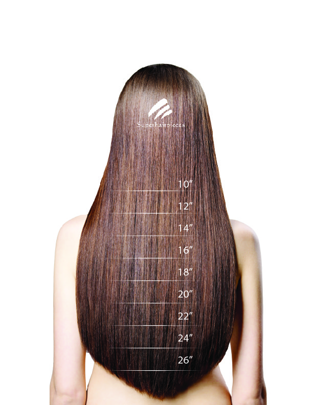 hair extension length chart
