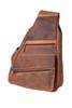 "Handmade leather cross body shoulder bag ""Gabriel Terreux"""