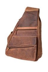 "Handmade leather cross body shoulder bag ""Gabriel Terreux"""
