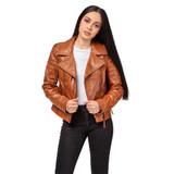 "Handmade Leather Jacket ""New York"" Front 2 Thumb"